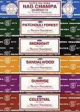 Set of 6 x 15g Boxes Incense Nag Champa Sunrise Sandalwood Midnight Patchouli Celestial
