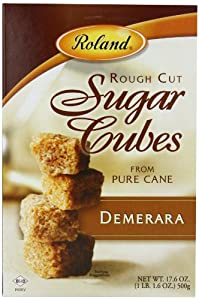 Roland Rough Cut Demerara Sugar Cubes - 17.6 oz