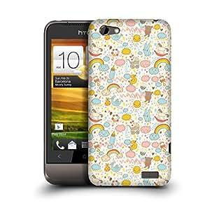 MobileGlaze Designs Unicorns from Dream Pony Toy Hard Back Case Cover for HTC ONE V
