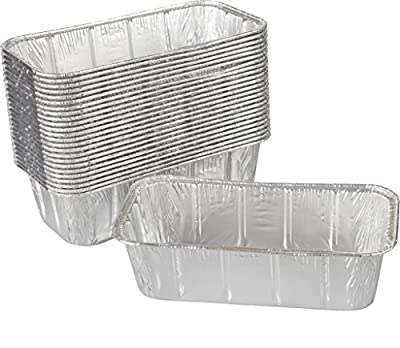 Paksh Disposable Loaf Pan - 50 Baking Pans for Breads, Brownies, Pound Cakes, Meatloaf, and More | 8 ½ x 4 ½ x 2 ½