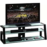 """Techni Mobili Tempered Frosted Glass 65"""" TV Stand"""