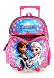 Frozen - Large 16 Full-size Rolling Backpack - Snowflakes