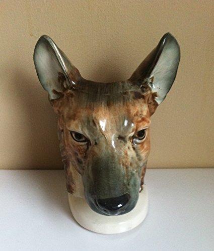 VINTAGE JAPAN GERMAN SHEPHERD-DOG HEAD VASE, LARGE HEADVASE, RARE, NAPCO? (Napco Head Vase compare prices)