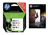 HP SD534EE#301 - 364 Combo Pack - 4-pack - black, yellow, cyan, magenta - original - blister - ink cartridge - for Deskjet 35XX, Photosmart 55XX, 55XX B111, 65XX, 65XX B211, 7510 C311, 7520, eStation C510