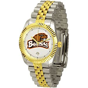 Oregon State Beavers NCAA Mens Executive Watch (2-Tone Stainless Band) by SunTime
