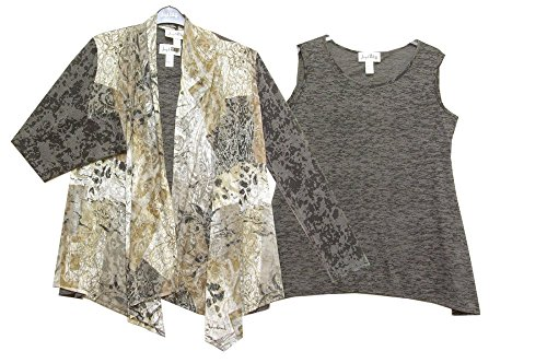 Joseph Ribkoff Grigio Cover-Up-Set di maglia e 153738 Colour as Shown