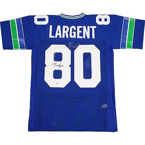 Steve-Largent-Autographed-Seattle-Seahawks-Throwback-Mitchell-and-Ness-Jersey-w-HOF-95Inscription-Authentic-Signed-Autograph
