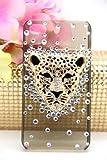 Leegoal(TM) 3d Swarovski Crystal Bling Case for Iphone 4 / 4s Leopard Head