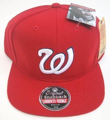 MLB Men's American Needle 1971 Washington Nationals Retro Cooperstown 400 Snapback Cap (Red, Adjustable)