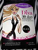 Colorsport- DIVA 30 DAY Mascara in Black-Eyelash&Brow Dye Kit-New