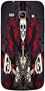 Snoogg Skeletons In Tophats And Roses 2695 Solid Snap On - Back Cover All Aro...