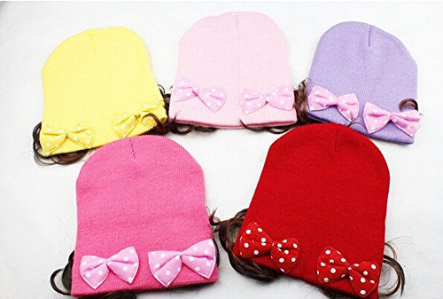 Baby Girl Hats Flower Wig Toddler Infant Kids Knit Hat - 1