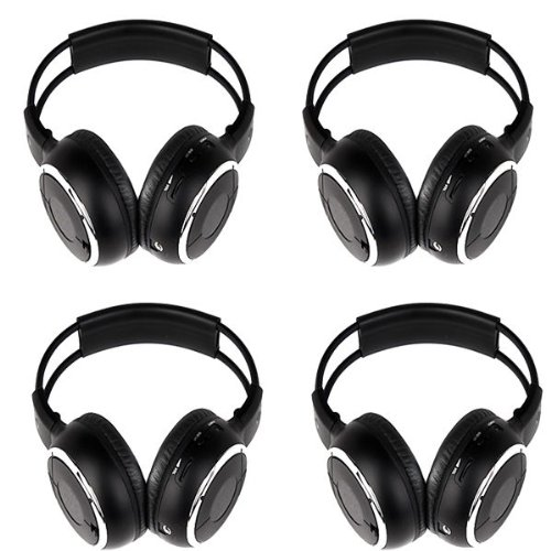 Ouku 4 Pieces Of Two Channel Folding Universal Rear Entertainment System Infrared Headphones Wireless Ir Dvd Player Head Phones For In Car Tv Video Audio Listening