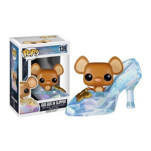 Funko POP Disney Cinderella Glass Slipper with Gus Gus 2015 Movie Vinyl Figure Character Doll - 1
