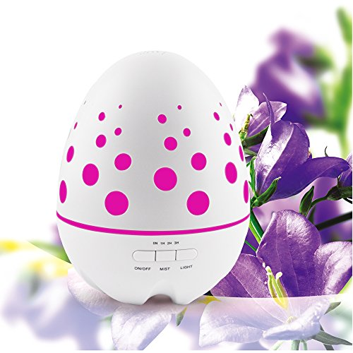 Sensky® SK020F 400ML dinosaur egg shape hollow design Essential Oil Diffuser - Innovative and Stylish Aromatherapy Diffuser - Oil Diffuser with Energy Saving Ultrasonic Technology(patented product)