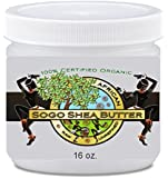 Sogo Shea Butter - 100% Raw and Unrefined Shea Butter. Skincare the Whole Family Can Trust. Certified Organic Shea Butter. For Dry Skin - No Chemicals. Easy to Use 16 Oz Jar. High in Vitamins A & E for Anti-wrinkle, Blemishes, Rashes, Burns, Itching and Stretch Marks for Expectant Mommies. Great for DIY Soaps, Body Butters, Lotions Etc. Buy 2 and Get Free Shipping. Money Back-30 Day 'Satisfaction Guarantee'