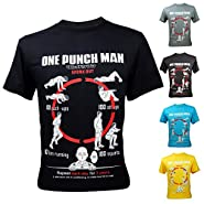 Men's One Punch Man Saitama Workout Training To Be Bald Funny T-Shirt
