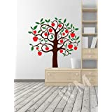 WALLMANTRA The Apple Tree Wall Decal Wall Sticker : Size XL(36x36) Inches