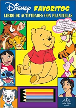 Libro de actividades con plantillas: Disney Animales: Animals Stencil