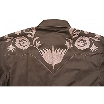 Rockmount Mens Vintage Style Western Floral Embroidery Snap Shirt