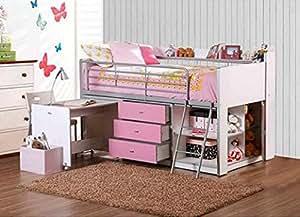 Amazon.com - Savannah Loft Bed with Storage and Work Desk -