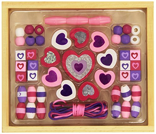 Melissa & Doug Shimmering Hearts Wooden Bead Set by Melissa & Doug - 1