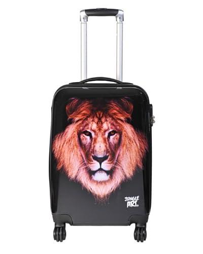 Jungle Art Trolley 4 Ruote Lion [Nero]