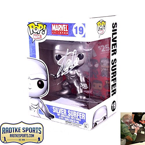 Stan Lee Autographed/Signed Funko Pop! Marvel Universe Silver Surfer #16 In-Box Action Figure