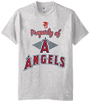 MLB Los Angeles Angels Men's 58T Tee, Steel Heather, Large