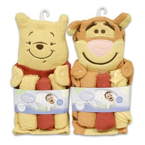 Wash Set 3 Pieces Pooh Mitten With Wash Cloth - Case Pack 144 SKU-PAS917916