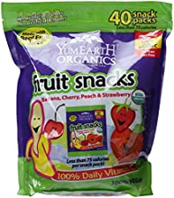 YumEarth Organics Gluten-Free Fruit Snacks with Real Fruit Juice 40 Count
