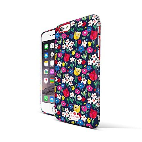 女性向きのiPhone 6 Plus(5.5'') ケース、AKNAスタイリッシュフィットシリーズiPhone 6 Plus(5.5'')用ウルトラスリムスタイリッシュフルーカバーケース [スリムガールケース][Bunch Paradise Flowers]