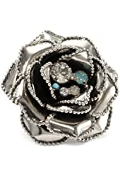 "Sorrelli ""Aegean Sea"" Large Blooming Flower Ring Adjustable Band"