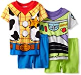 Disney Boys 2-7 Sherriff And Space Ranger Short Sleeve Pajama Set