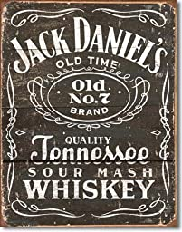 Yours Dec Metal Tin Sign Jack Daniels Whiskey Tin Metal Sign :Woodcut Logo , 12