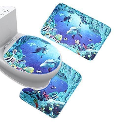 Abattant wc dauphin abattant wc part 2 for Accessoires salle de bain theme mer