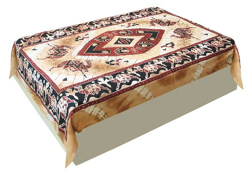 Camel Dollsofindia Camel Procession On Light Brown Single Bedspread  Cotton