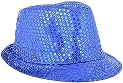 Masti Station Unisex Fedora Party Hat (Fhp03, Blue)