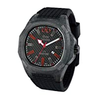 iTime Unisex Quartz Watch with Black Dial Analogue Display and Black Silicone Strap PH4900-C-PH01R