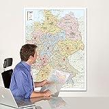 BACHER. Postleitzahlenkarte Deutschland 1 : 700 000. Poster-Karte. Postleizahlenkarte mit 5stelligen PLZ und Bundesländern