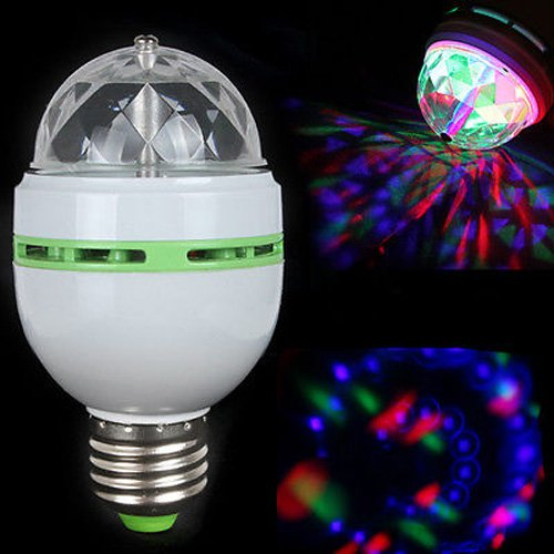 5 Pcs E27 Rgb Effect 3X Led Rotating Stage Crystal Ball Led Light Lamp For Disco / Dj
