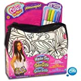 Color Me Mine Generic Hipster Bag with Glitter (Pattern may vary)