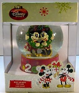 Disney 2009 Mickey & Minnie Button Snow Globe from Disney