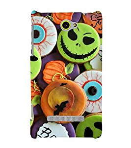 printtech Halloween Candy Sweets Back Case Cover for HTC Windows Phone 8S