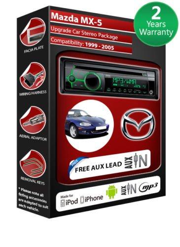 Mazda MX5 de lecteur CD et stéréo de voiture avec radio Clarion CZ102EG AUX avant