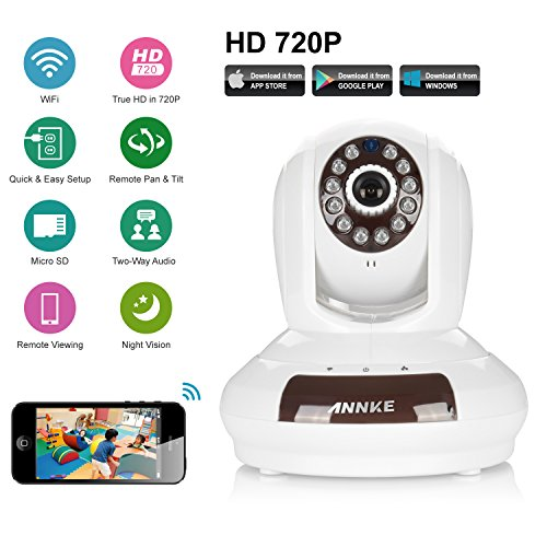 ANNKE SP1 HD 720P Baby Monitor,Cloud Network/Wireless IP Camera-White