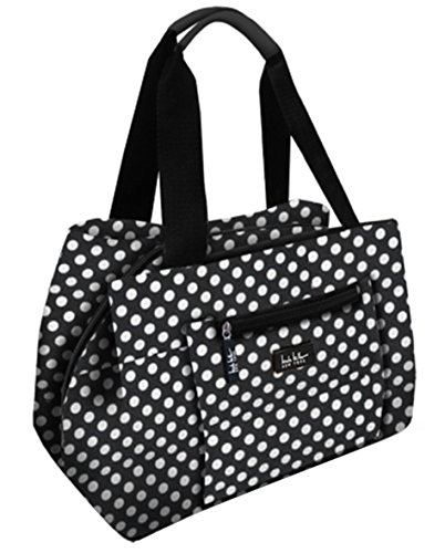 nicole-miller-insulated-11-lunch-tote-black-white-polka-dot