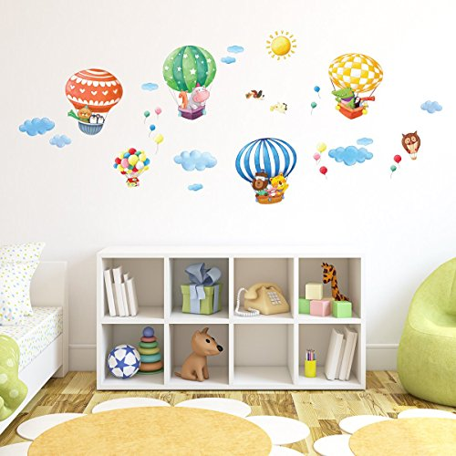 decowall dm 1406b tier hei luftballons wand sticker. Black Bedroom Furniture Sets. Home Design Ideas
