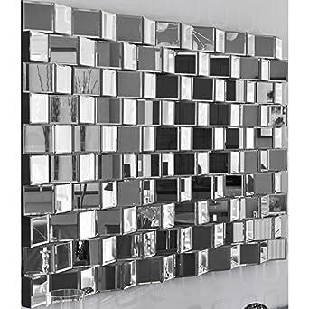 Miroir facettes relief design disco 140 cm couleur for Miroir review