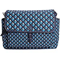 Tory Burch Scout Nylon Printed Messenger Baby Bag (Navy)